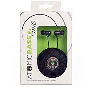 Radius Atomic Bass 2 Earbuds with Mic-Black