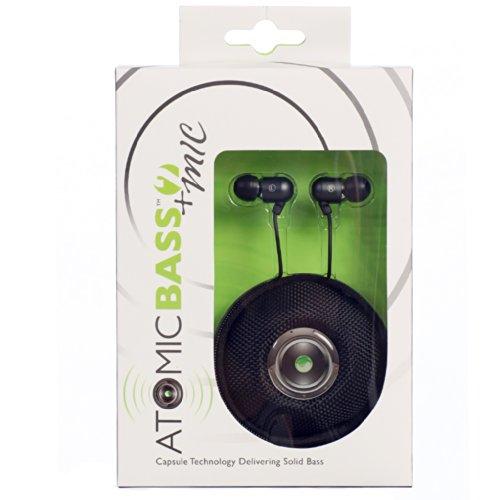 Radius Atomic Bass 2 Earbuds With Mic-Black
