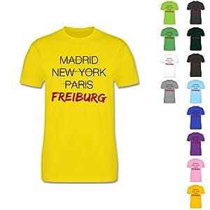 L190 Premium Herren Männer T Shirt Imperial gerader lockerer Schnitt - Städte - Weltstadt Freiburg