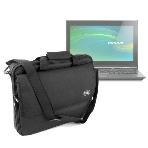 Duragadget Durable Black Water Resistant Laptop Briefcase With Detachable Shoulder Strap For Lenovo Ideapad Y500, Lenovo Ideapad Z500, Lenovo Ideapad Z585
