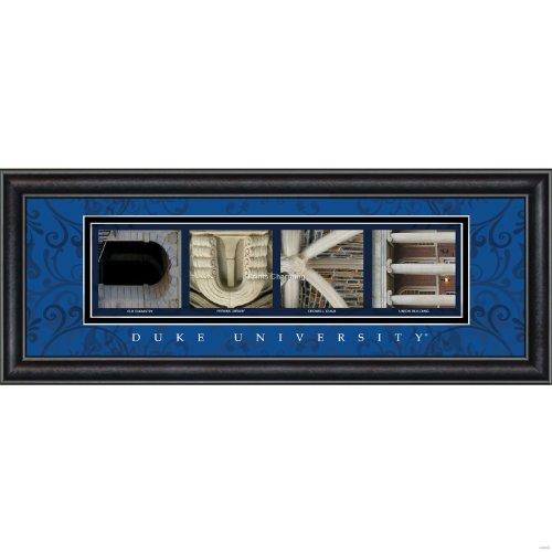 Prints Charming Letter Art Framed Print, Duke University-Duke, Bold Color Border
