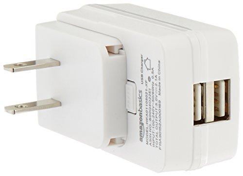 AmazonBasics Dual Port USB Wall Charger - 2.1 Amp