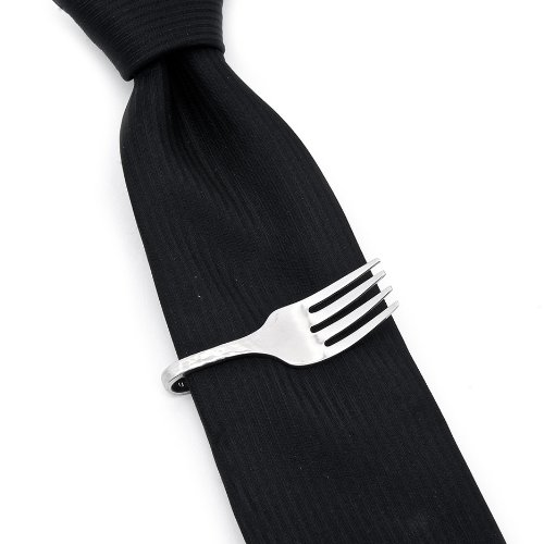 Stainless Steel Pebble Fork Tie Bar