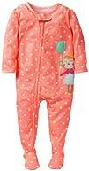 Carters Baby Girls 1 Piece Dot Print Footie Baby