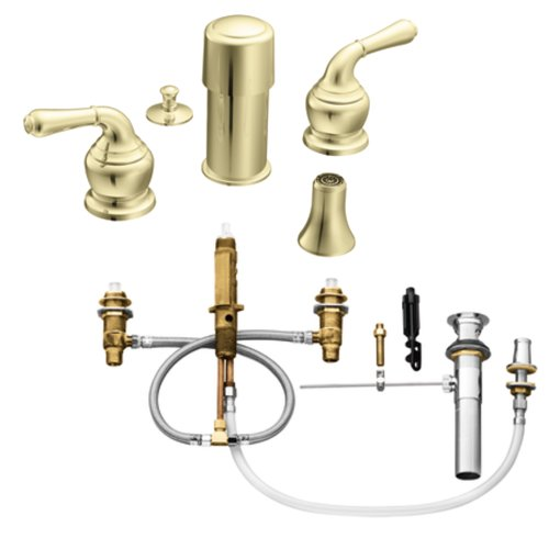 Moen Polished Brass Bathroom Faucets: Moen T5270P-9200 Monticello Two-Handle Bidet Faucet With