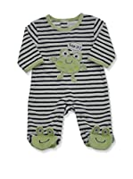 Pitter Patter Baby Gifts Pijama (Blanco / Azul)
