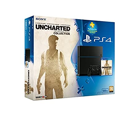 PlayStation 4 - Consola 500 GB Chassis C + Uncharted Collection + Suscripción 3 Meses PS+