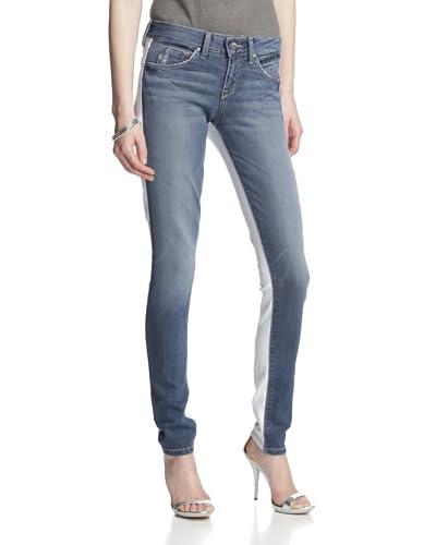 Fade to Blue Women's Colorblock Skinny Jean