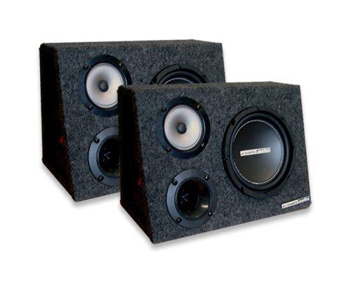 """Acoustic Audio Aa63Xt 600 Watt Pair 6.5"""" 3-Way Full Range Car Speakers"""