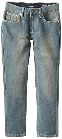 Nautica Big Boys' Skinny Denim Jean, Storm, 8