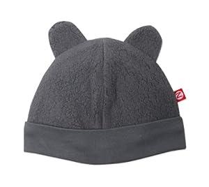Zutano Unisex-Baby Infant Cozie Fleece Hat, Gray, 6 Months