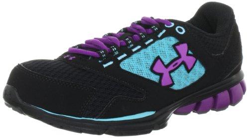 Women's Under Armour Assert II Running Shoe Black/Flow/Cassis Size 7.5 (Under Armour Assert Ii compare prices)