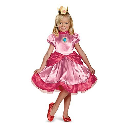 Disguise Nintendo Super Mario Brothers Princess Peach Girls Toddler Costume, Medium/3T-4T by Disguise (Princess Peach Costume Toddler)