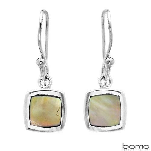 BOMA Pleasant Earrings With Genuine Mother of pearls Well Made in 925 Sterling silver Length 20mm
