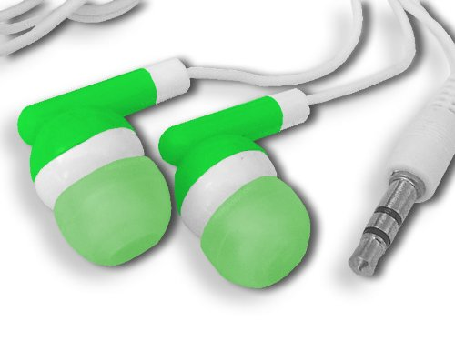 Green On Green 3.5Mm Mix-Dat In-Ear Hi-End Hi-Fi Stereo Earbuds For Mp3 4 Player - Same Day Processing W/ Usps First-Class