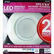 TCPRL12DR6527K2LED Retrofit Recessed Light Kit-12W 5/6