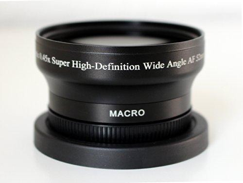 0,45x Weitwinkel 52mm für Nikon D3200 D3100 D3000 D5000 D40 D60 D70 D80 D90 (WK60B52mm)