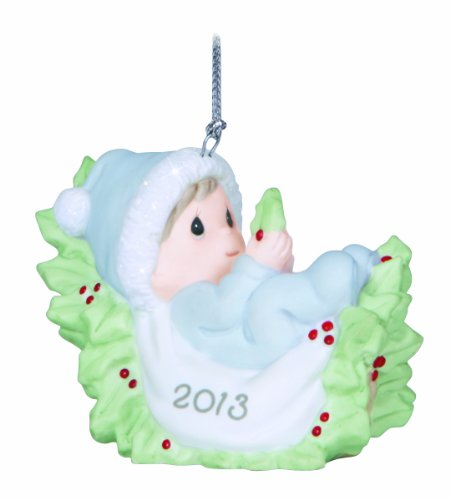 Precious Moments Dated 2013 Baby Boy First Christmas Ornament