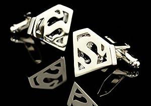 Silver Plated Superman Shield Cufflinks Super Hero Cufflinks Shirt Cufflinks Best Gift to Men