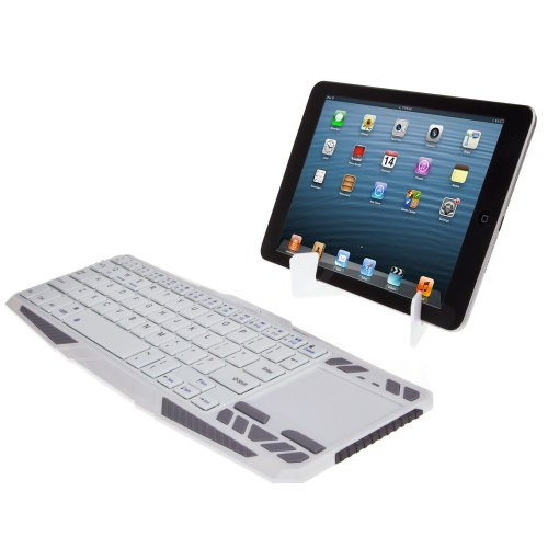 Supernight® Portable Wireless Bluetooth Keyboard Handheld With Rechargeable Lithium Battery For Bluetooth Enabled Devices - Android + Tablets / Mac Os / Windows / Google Nexus 7 / Google Android Tv Box / Apple Iphone 4 4S 3Gs 3G / Ipad 2 3 4 5 / Ipad Mini