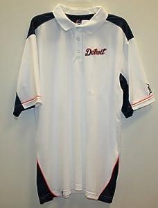 Detroit Tigers MLB Mens White Anthem Polo Shirt