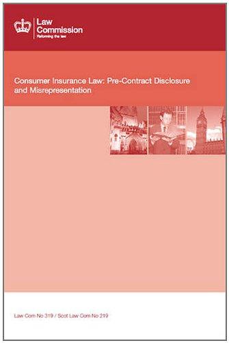Consumer Insurance Law: Pre-contract Disclosure and Misrepresentation (Cm.)