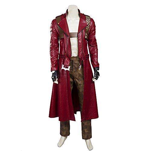 [HZYM Men's Devil May Cry 3 Dante Cosplay Costume (XL)] (Devil May Cry 3 Costumes)