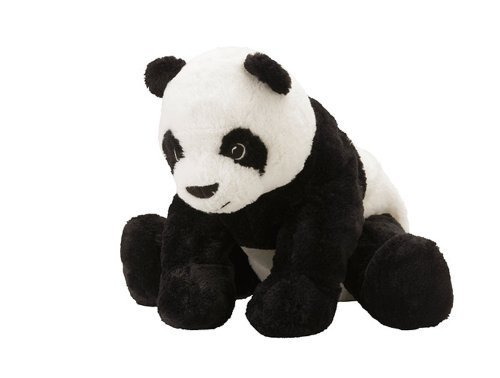 Ikea KRAMIG 902.213.18 Panda, Soft Toy, White, Black, 11.75 Inch, Stuffed Animla Plush Bear - 1
