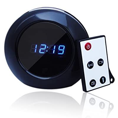 Stylish 1280x960 HD Mini DVR Hidden Camera - Motion Detection Clock Camera with 140 Degree Wide View Angle