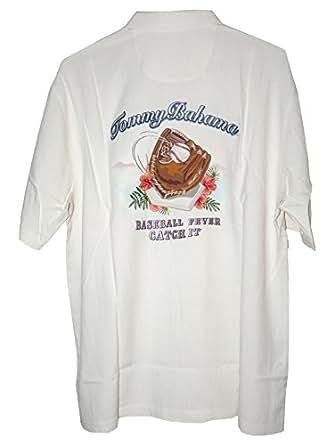 Tommy bahama mlb baseball fever catch it silk camp shirt for Mens silk shirts amazon