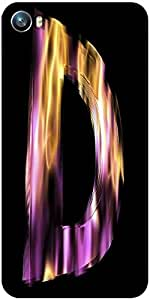 Snoogg flaming 3d letter Designer Protective Back Case Cover For Micromax Canvas Fire 4 A107