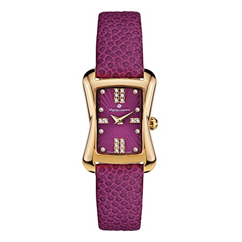 Mathieu Legrand Montre Femme Papillon Or IP violet MLG-2001C
