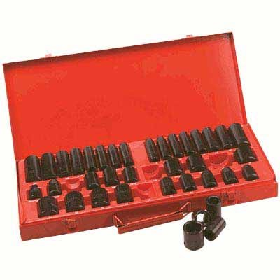 Buy Northern Industrial Impact Sockets - 3/8In. and 1/2In. Drives, 38-Pc. SAE & Metric Set (Northern Tool and Equipment Power Tools,Power & Hand Tools, Power Tools, Impact Wrenches)