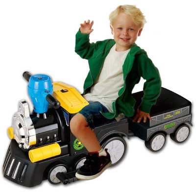 New Star My Mini Express Train with Trailer Battery Powered Riding Toy - Black