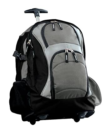 Port Authority Wheeled Backpack, Grey/Black, One Size
