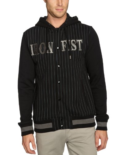 Iron Fist Warriors Hoody Mens Jumper Black Large