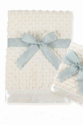 Bearington Baby - Large Dottie Snuggle Blanket (Cream)