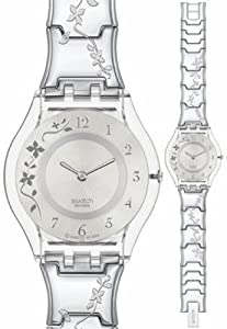 swatch Women's SFK300G Quartz Stainless Steel Silver Casual Watch
