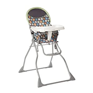 Cosco Slim Fold High Chair, Ikat Dots