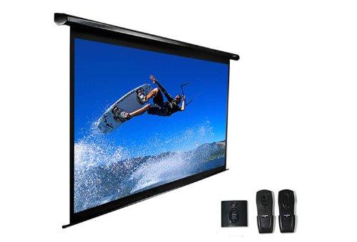 "Elite Screens Vmax153Uws2 Vmax2 Electric Projector Screen (153 Inch Diagonal 1:1 Ratio 108.2""Hx108.2""W)"