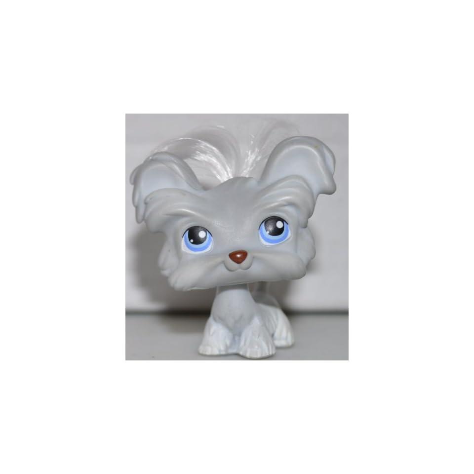 Shih Tzu 227 White Hair Littlest Pet Shop Retired Collector Toy