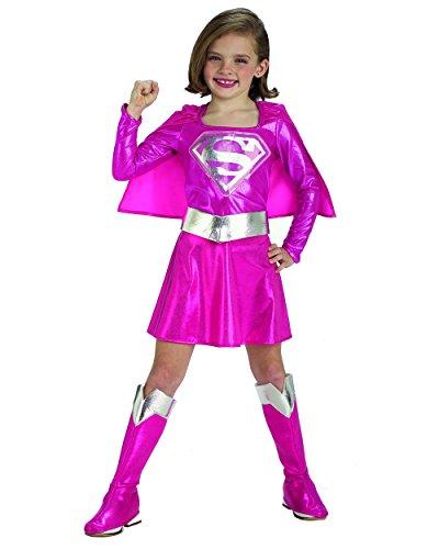 Pink Supergirl Child's Costume