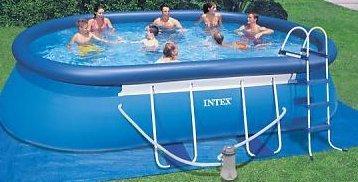 intex 18 39 x 10 39 x 42 oval frame swimming pool set 1000. Black Bedroom Furniture Sets. Home Design Ideas