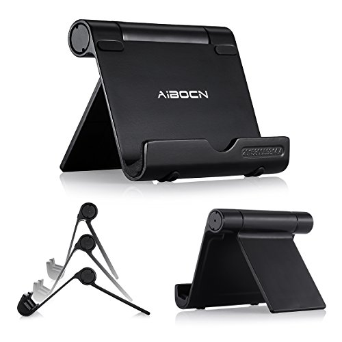 Aibocn Upgraded Multi-Angle Aluminum Stand for Tablets Smartphones and E-readers Compatible