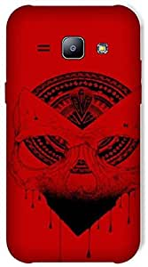Timpax Protective Hard Back Case Cover With access to all controls and ports Printed Design : A red mask.Exclusively Design For : Samsung Galaxy J1