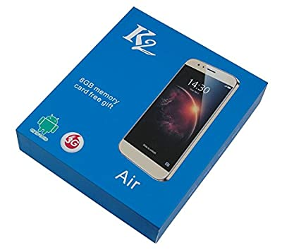 "K2-Air 5"" 1.5 Quad Core High Performance 4G Dual SIM Smart Phone (Black )"