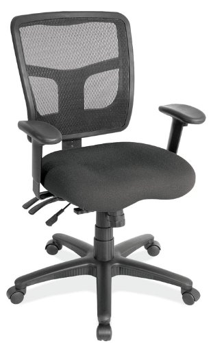 review cool mesh mid back chair with fabric seat by office source