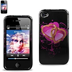 2DPC-IPHONE4S-147 Protector Cover IPHONE 4S Hard Case Pink Hearts