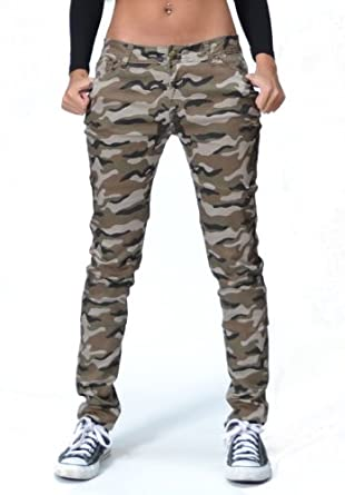 Beautiful Camouflage Slim Elastic Women Pants Women39s Army Cargo Pencil Pant