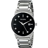 Bulova Men's 96D121 Black Dial Bracelet Watch